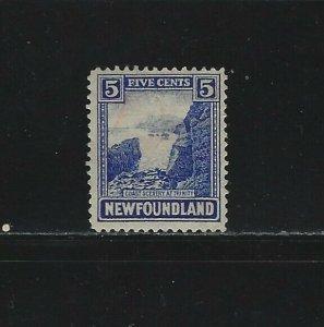 NEWFOUNDLAND - #135 - 5c COAST OF TRINITY USED STAMP