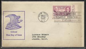 US #778d-GP2 TIPEX Unknown cachet addressed