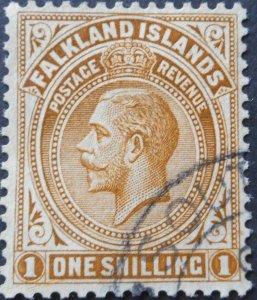 Falkland Islands 1921 GV 1/- SG Z41 used