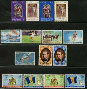 BARBADOS Sc#353-379 1971-72 Seven Complete Sets OG Mint LH