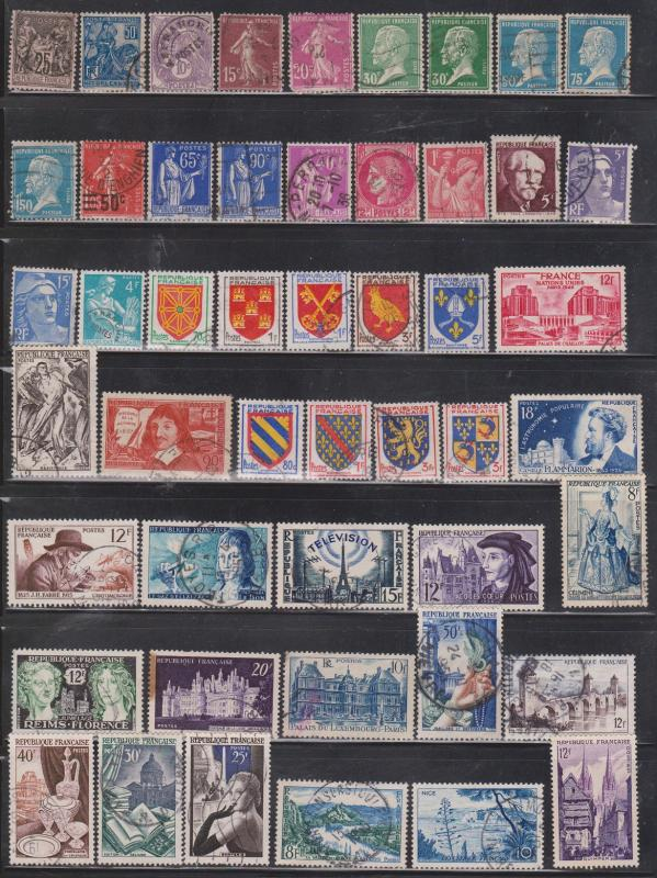 FRANCE  - Lot Of Used Stamps - Various Issues - CV Over $45.00