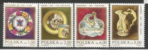 POLAND 2502//2507 HINGED, PORCELAIN OR STONEWARE
