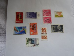 ISRAEL STAMPS MIXED CON. LOT OF 10 STAMPS. # 29