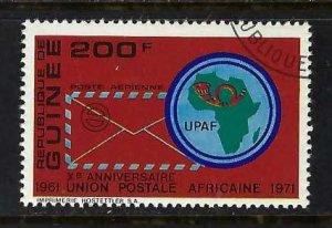 GUINEA C123 VFU MAP Z68-1
