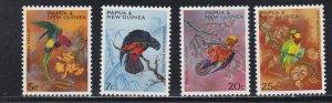 Papua New Guinea # 249-252, Parrots, NH, 1/2 Cat.
