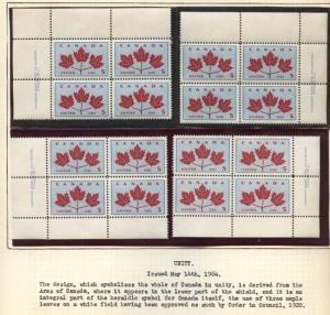 Canada USC #417-429A Mint inc. #427i Matched Sets Cat. $110.00 - VF-NH
