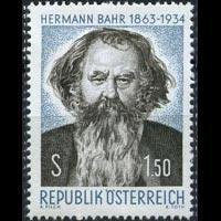 AUSTRIA 1963 - Scott# 705 Writer Bahr Set of 1 NH