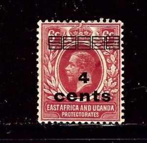 East Africa and Uganda 62 MH 1919 surcharge