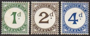 Gibraltar 1956 Set of Postage Due stamps MH