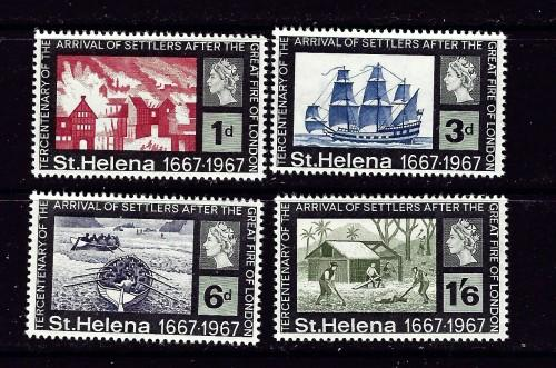 St Helena 197-200 NH 1967 Great Fire of London