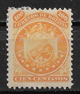 1868 Bolivia 13 Coat of Arms 100c MHR