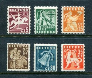 x124 - LITHUANIA 1940 Sc# 317-322 Set Unmounted Mint Never Hinged MNH