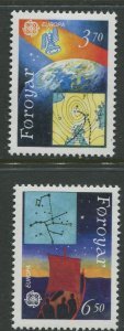 STAMP STATION PERTH Faroe Is.#220-221 Pictorial Definitive Iss.MNH 1991 CV$3.50