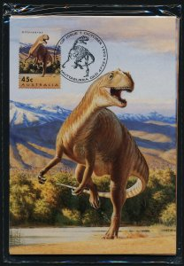 Australia 1342-7 on Maxi Cards in sealed pack - used -Dinosaurs