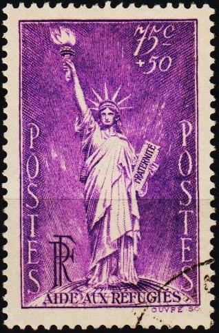 France. 1936 75c+50c S.G.542 Fine Used