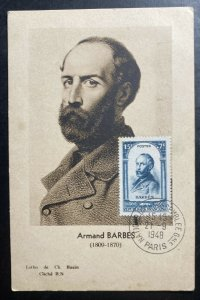 1948 Paris France Maxi postcard Cover PPC Armand Barbes
