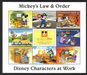 St. Vincent Grenadines-Disney Mickey's Law VF NH 8 Stamps