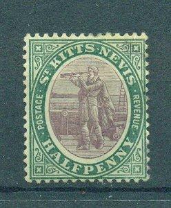 St. Kitts & Nevis sc# 11 mh cat value $16.50