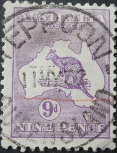 Australia 1929 Nine Pence Kangaroo with YEPPOON postmark