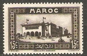 1933 French Morocco Scott 129 Post Office at Casablanca MNH