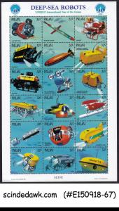 PALAU - 1998 DEEP SEA ROBOTS - MINIATURE SHEET MNH