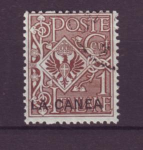 J21629 Jlstamps 1906 italy office in crete used #3 ovpt