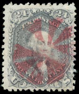 momen: US Stamps #78a USED MAGENTA WEISS Cert