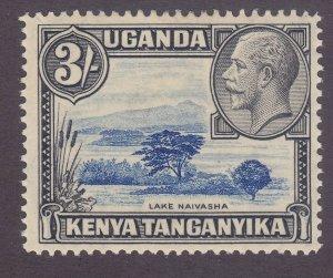 Kenya Uganda & Tanzania 56 Mint 1935 3sh Black & Ultra KGV VF