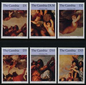 Gambia 1840-5 MNH Christmas, Art, Paintings