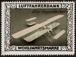 Germany Biplane Alter Doppeldecker WWI Air Force Luftfahrerdank Flight M G102827