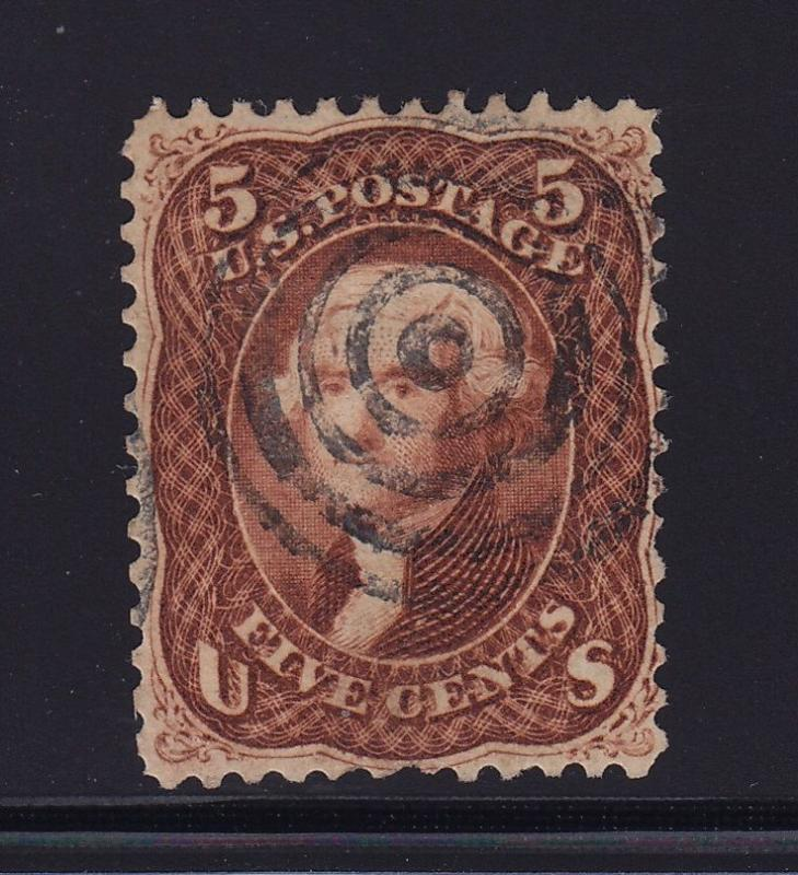 75 F-VF used neat cancel with nice color cv $ 450 ! see pic !
