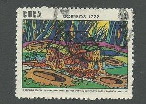1972 Cuba Scott Catalog Number 1697 Used