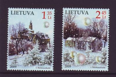 Lithuania Sc 904-5 2009 Christmas stamp  set mint NH