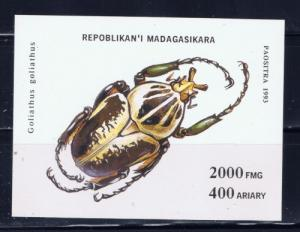 Malagasy 1223 NH 1994 Insect souvenir sheet