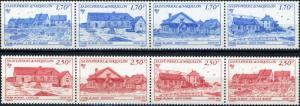 St. Pierre and Miquelon #564a / 568a Senic Views 2 Strips of 4
