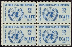 Philippines Stamp  1947 Conference Issue 12c MNH/OG stamp BLK OF 4