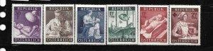 AUSTRIA, B288-B293, MINT HINGED, SURTAX SOCIAL WELFARE