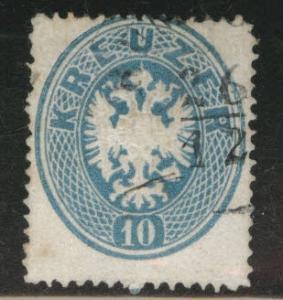 Austria Scott 20 Used 1863 perf 14 stamp