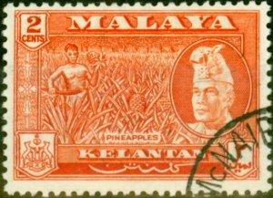 Kelantan 1959 2c Red-Orange SG84a Superb Used
