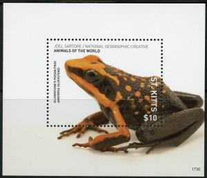 ST. KITTS  2017  NAT'L GEORGRAPHIC ANIMALS OF THE WORLD POISON FROG  S/S MINT NH