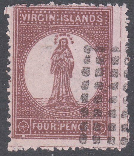 BR VIRGIN ISLANDS  An old forgery of a classic stamp .......................C882