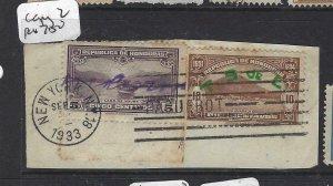 HONDURAS (P2606B) SC 300-1 PIECE NY PAQUEBOT CDS CANCEL #2