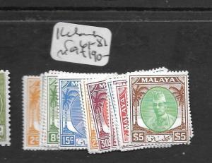 MALAYA KELANTAN  (PP0109B) SULTAN SG 61-81   MOG