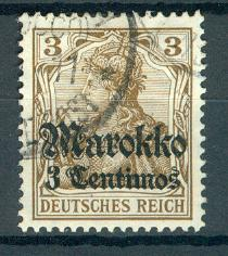 Morocco German Offices Abroad Sc # 45, used