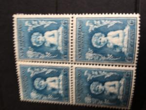 Newfoundland - 1932 6c Princess Elizabeth Block of 4 mint #192