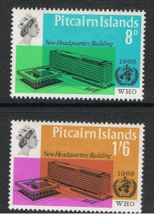 PITCAIRN ISLANDS 1966 WHO HEADQUARTERS