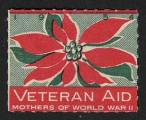 1954 - Veteran Aid - Mothers Of World War II - Poster Stamp/Charity Seal