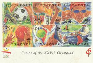 Singapore 1992 Games of the XXVth Olympiad in Barcelona MS MNH SG#MS687