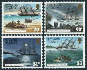 Pitcairn 403-406,MNH.Michel 432-435. Shipwrecks,1994.Widwave,Cornwallis,Acadia,