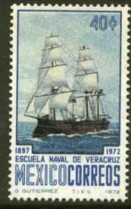 MEXICO 1041, 75th Anniversary Naval Academy at Veracruz MINT, NH. VF.